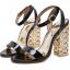 รองเท้าส้นสูงส้นหนาสีดำ/ทอง ไซต์ 34-40 thumbnail 8