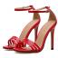 รองเท้าส้นสูงรัดข้อสายคาดหน้า 3 เส้น สีแดง/ดำ/ครีม ไซต์ 35-40 thumbnail 8