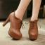 รองเท้าส้นสูงหุ้มเท้าน่ารักๆสีดำ/น้ำตาล/ครีม ไซต์ 34-43 thumbnail 7