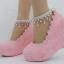 รองเท้าเจ้าสาวส้นเตารีดสีขาวมุข/ชมพู ไซต์ 34-42 thumbnail 3
