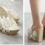 รองเท้าส้นเตารีดส้นติดกากเพชรแน่นๆสีเงิน/ทอง/ขาว/ชมพู ไซต์ 34-39 thumbnail 7