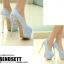 รองเท้าส้นสูงเก็ดกลิ๊กเตอร์สีฟ้า/ม่วง/ทอง/ชม ไซต์ 34-43 thumbnail 8