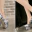 รองเท้าส้นสูง ไซต์ 34-43 สีดำ/ขาว/แดง thumbnail 5