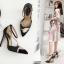 รองเท้าส้นสูงปลายแหลมสีขาว/ดำ ไซต์ 35-40 thumbnail 3