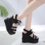 รองเท้าส้นเตารีดแบบเก๋สีดำ ไซต์ 34-39 thumbnail 2