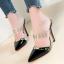 รองเท้าส้นสูงปลายแหลมแบบสวมสีแดง/ชมพู/ดำ/ครีม ไซต์ 34-38 thumbnail 2