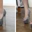 รองเท้าส้นสูง ไซต์ 34-40 สีดำ สีเทา thumbnail 3