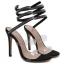 รองเท้าส้นสูงสายเกลียวพันรอบขาสีดำ ไซต์ 35-40 thumbnail 4