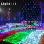 ไฟตาข่าย LED ขนาดใหญ่ 3x3 m สีขาว (กระพริบ) thumbnail 1