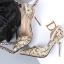 รองเท้าส้นสูงปลายแหลมสีเงิน/ทอง/ฟ้า ไซต์ 34-39 thumbnail 5
