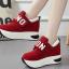 รองเท้าผ้าใบเสริมส้นสีแดง/ดำ/เทา ไซต์ 35-40 thumbnail 5