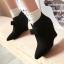 รองเท้าส้นเตารีดปลายแหลมสีชมพู/ดำ/เขียว ไซต์ 34-43 thumbnail 2