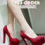 รองเท้าส้นสูงสีแดง/ดำ ไซต์ 35-39 thumbnail 10
