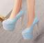 รองเท้าส้นสูงเก็ดกลิ๊กเตอร์สีฟ้า/ม่วง/ทอง/ชม ไซต์ 34-43 thumbnail 6