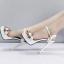 รองเท้าส้นสูงแต่งดอกไม้สีชมพู/ดำ/ขาว ไซต์ 34-39 thumbnail 6