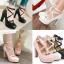 รองเท้าส้นสูงแต่งดอกไม้น่ารักๆสีชมพู/ขาว/ดำ ไซต์ 34-43 thumbnail 1