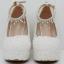 รองเท้าเจ้าสาวส้นเตารีดสีขาวมุข/ชมพู ไซต์ 34-42 thumbnail 4