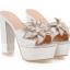 รองเท้าส้นสูงแบบสวมส้นหนาแต่งดอกไม้หรูๆสีดำ/ชมพูอ่อน/ชมพูเข้ม/ขาว/เงิน ไซต์ 34-43 thumbnail 7