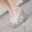 รองเท้าส้นเตารีดส้นติดกากเพชรแน่นๆสีเงิน/ทอง/ขาว/ชมพู ไซต์ 34-39 thumbnail 9