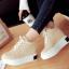 รองเท้าผ้าใบเสริมส้น ไซต์ 34-43 สีขาว/ดำ/ครีม thumbnail 3