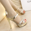 รองเท้าส้นสูงแบบสวมสีเงิน/ทอง ไซต์ 34-38 thumbnail 2