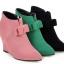 รองเท้าส้นเตารีดปลายแหลมสีชมพู/ดำ/เขียว ไซต์ 34-43 thumbnail 8