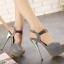 รองเท้าส้นสูงสีชมพู/เทา ไซต์ 34-39 thumbnail 4