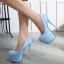 รองเท้าส้นสูงหนังแก้วสีแดง/ดำ/เทา/ฟ้า ไซต์ 34-40 thumbnail 4