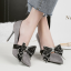 รองเท้าส้นสูงคัดชูปลายแหลมสีแดง/ดำ/เทา/น้ำตาล ไซต์ 34-39 thumbnail 8