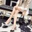 รองเท้าส้นสูงปลายแหลมสีขาว/ดำ ไซต์ 35-40 thumbnail 7