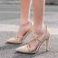 รองเท้าส้นสูงสายไขว้สีครีม/ดำ ไซต์ 35-40 thumbnail 7