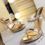 รองเท้าส้นสูงแบบสวมสีทอง/เงิน ไซต์ 34-39 thumbnail 8