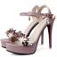 รองเท้าส้นสูงแต่งดอกไม้สีชมพู/ดำ/ขาว ไซต์ 34-39 thumbnail 12