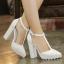 รองเท้าส้นสูงสีขาว/ดำ ไซต์ 35-40 thumbnail 2
