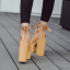 รองเท้าส้นสูงส้นหน้าหุ้มข้อสีน้ำตาล/ดำ/ขาว ไซต์ 34-39 thumbnail 12
