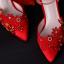รองเท้าเจ้าสาวสีแดงแต่งดีเทลสวย ไซต์ 34-39 thumbnail 4
