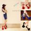 รองเท้าส้นสูง ไซต์ 34-39 สีดำ,แดง,น้ำเงิน thumbnail 1