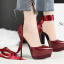 รองเท้าส้นสูงเก็บทรงผ้ารัดข้อผูกสีแดง/ดำ/เงิน/น้ำเงิน ไซต์ 34-39 thumbnail 12