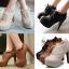 รองเท้าส้นสูงหุ้มเท้าน่ารักๆสีดำ/น้ำตาล/ครีม ไซต์ 34-43 thumbnail 1
