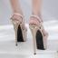 รองเท้าส้นสูงสีดำ/ทอง/เงิน ไซต์ 34-40 thumbnail 12