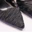รองเท้าส้นสูงปลายแหลมผ้าย่นสีโอรส/ดำ ไซต์ 35-39 thumbnail 9