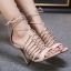 รองเท้าส้นสูงสีครีม/ดำ ไซต์ 35-40 thumbnail 4
