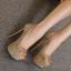 รองเท้าส้นสูง ไซต์ 34-40 สี : ทอง/เงิน/ดำ thumbnail 6