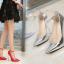 รองเท้าส้นสูงปลายแหลม 5.2 นิ้ว สีดำ/แดง/เงิน/ทอง/น้ำเงิน ไซต์ 35-43 thumbnail 13