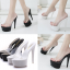 รองเท้าส้นสูงแบบสวมสีขาว/ดำ ไซต์ 34-38 thumbnail 1