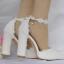 รองเท้าเจ้าสาวส้นหนาปลายแหลมสีขาว ไซต์ 36-41 thumbnail 3