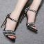 รองเท้าส้นสูงสีดำ/ครีม ไซต์ 35-42 thumbnail 3