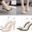 รองเท้าส้นสูงแบบหรูสีดำ/ขาว ไซต์ 35-40 thumbnail 1