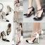 รองเท้าส้นสูงปลายแหลมสีขาว/ดำ ไซต์ 35-40 thumbnail 1