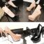 รองเท้าส้นสูงคัดชูสีนู๊ด/ดำ ไซต์ 34-38 thumbnail 1